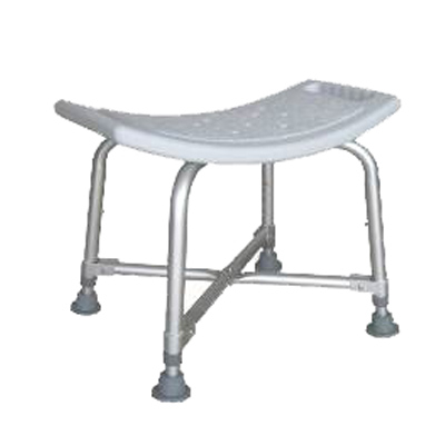 Alum. Heavy Duty Shower Stool K/D Version